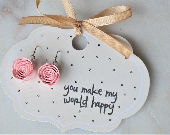 Mothers day gift, Gift for mom, Special gift for her,  Romantic gift, Gift for florist, Gift for gardener, Silver earrings, Michaelacraft