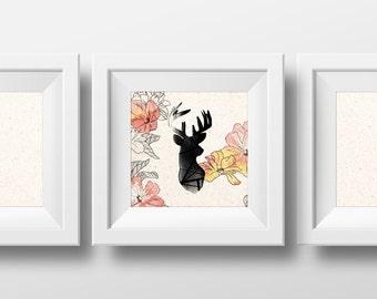 Chevreuil Bambi - Décoration chambre fille