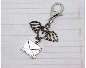 Owl Post Keyring, Owl Charm, Letter Post, Graduation Gift, Owl Post Bag charm, Ella Rose, gift idea, gift for geeks,