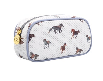 TaylorHe Make-up Bag Cosmetic Case Pencil Case Zipped Top Majestic Horses.