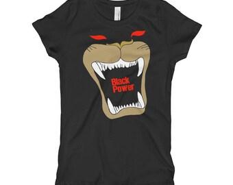 Black Power Girl's T-Shirt