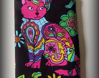 Eyeglass case - Sunglasses case - glasses case - cat eyeglass case - cat sunglass case- cat glasses case - cat - cats - cat lover - animal
