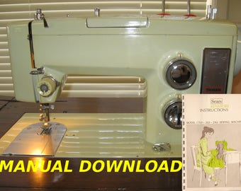 Sears Kenmore model 1753 sewing machine Owners manual Kenmore Sewing manual Sewing instructions Sears owners manual Kenmore sewing Sears mod