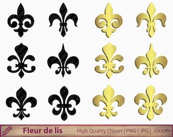 Fleur de lis clipart, fleur de lys clip art, scrapbooking, commercial use, digital instant download, jpg png 300dpi