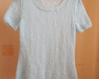 Knitted t-shirt, woman's t-shirt, mohair t-shirt, knitted top, woman's top, mohair top