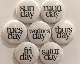 Days of the Week Magnets - set of 7