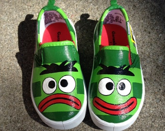 Yo Gabba Gabba (Brobee) Inspired Special Occasion Hand Painted Shoes