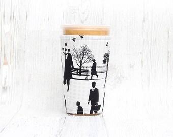 Rush Hour Kaffee gemütlich, Geeiste Kaffee Tasse gemütlich, Kaffee gemütlich, Kaffee, Tasse Ärmel, vereist Kaffee gemütlich, Kaffee-Manschette