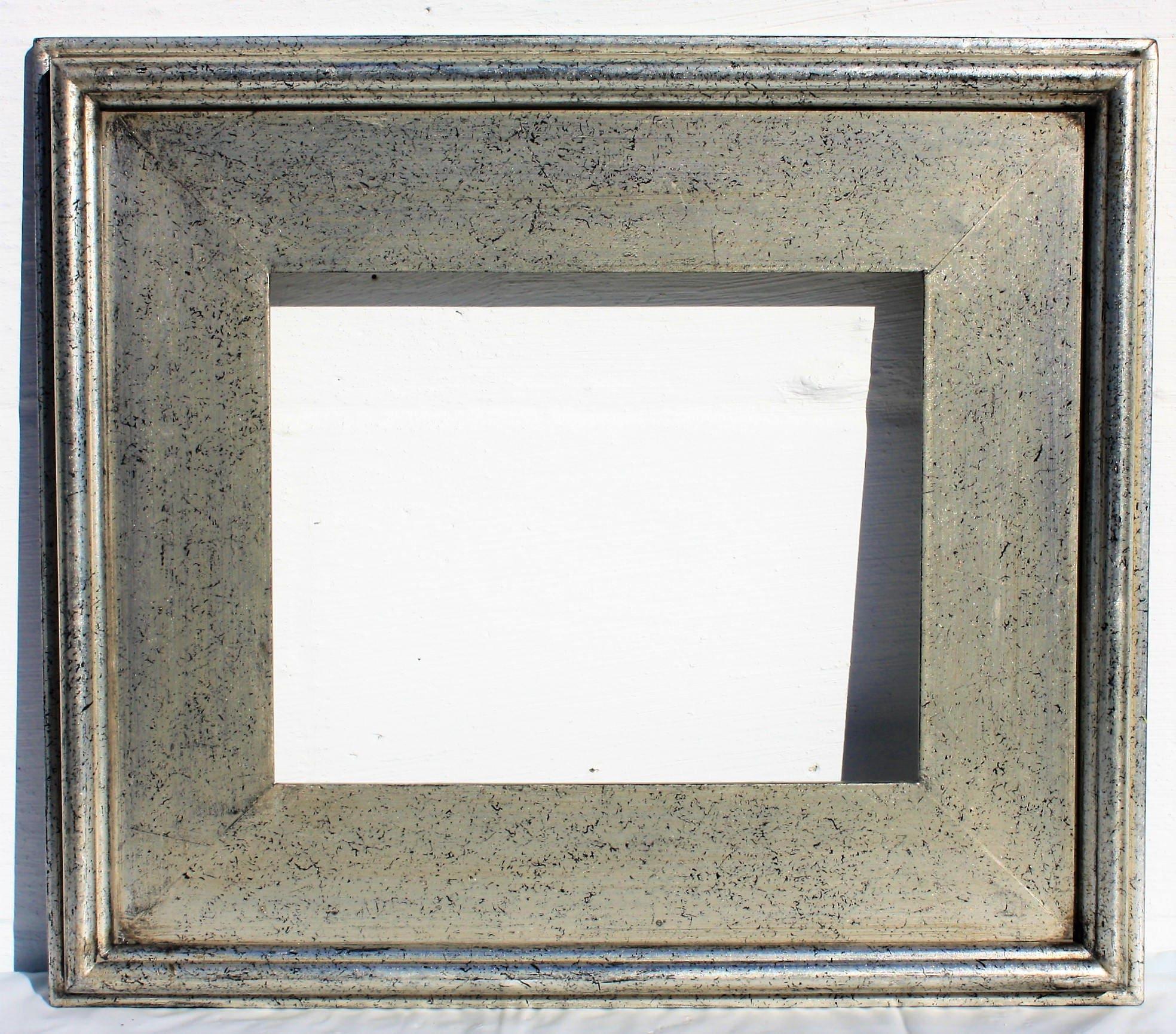 Silver Plein Air Picture Frames Modern 12x16 Black Speckled