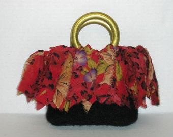 Fringe Bags Fringe Purses Fringe Beginner Knitting Patterns Felted Handbags Felted Purse Patterns Easy Knitting Purse Pattern Easy Felting