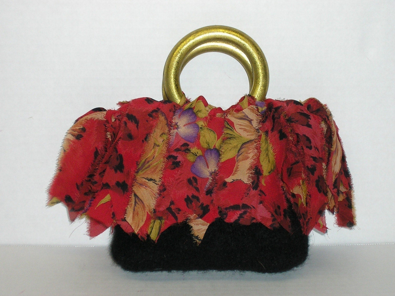 Fringe Bags Fringe Purses Fringe Beginner Knitting Patterns Felted ...