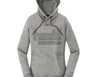 Periodic Table Sweatshirt, Hoodie with Periodic Table of Elements, Updated Periodic Table, Science Hoodie