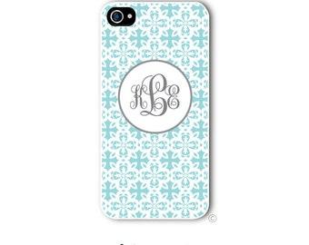 Floral Cross Phone Case Monogram iPhone 6 Case iPhone 6s Case Samsung Galaxy S5 S6 Case iPhone 5 iPhone 6 Plus iPhone 5c Style 218