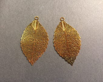 prints 6 openwork leaf 54mm for jewelry designs