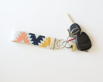 Fabric Key Chain Fob Arizona Agave Field