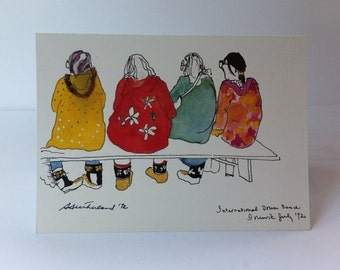 Greeting Card – Sharon E. Sutherland – Print – Four Friends