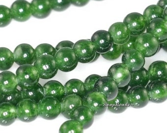 2MM Orchard Green Natural Jade Gemstone Round 2MM Loose Beads 15.5 inch Full Strand (90119818-115)