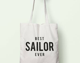 Best Sailor Ever Tote Bag Long Handles TB1281
