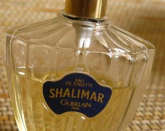 Shalimar Eau de Toilette, Guerlain, 1 fluid ounce, 2/3 full