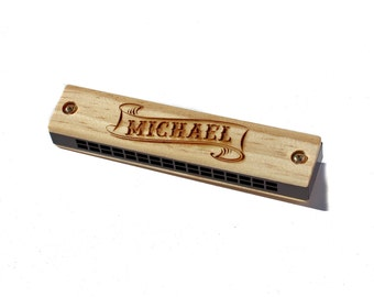 Personalized Harmonica for Kids  Stocking Stuffer for Kids, Toddler Gift