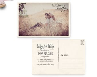 """Save the Date Postcard, 4x6, Save the Date, the """"Caitlyn"""""""
