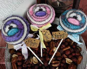 E-Pattern - The Lollipop Guild Pattern #138 - Primitive Doll E-Pattern - Christmas - Lollipop - Goodies