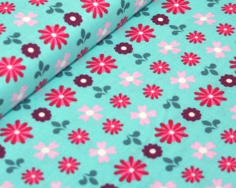 Liz Scott Fabric, Domestic Bliss by Liz Scott for Moda Fabrics, 18073-12 Flower Power Aqua