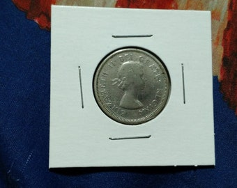 1963 Canada Canadian Quarter 25 cent Piece Coin Twenty Five 80 Percent Silver Queen Elizabeth II