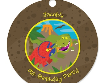 20 Dinosaur Personalized Birthday Party Tags - Do It Yourself Craft Supplies