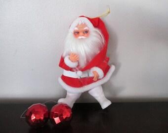 Vintage Santa Claus Ornament / Doll Figure