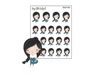 Planner Stickers Sad Girl Doodle Stickers