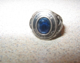 Lawrence High School Mini Class Ring Silver Charm for Bracelet Vintage Costume Jewelry  #c58