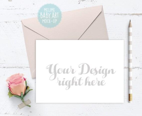 Wedding invitation mockups 5x7 landscape invite mock up stopboris Images