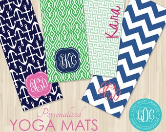 yoga embroidered shop ohfriday mats monogrammed mat monogram