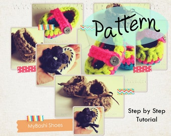 "Pattern Uncinetto: ""Scarpette Bimbo Unisex - MyBoshi 3 in 1"" (Tutorial Step by Step)"