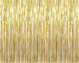 Gold Foil Curtain - Shimmer Backdrop, New Years, Party Decor, Gold Back Drop, Gold Photo Booth, Gold Shimmer Backdrop, Gold Party Backdrop