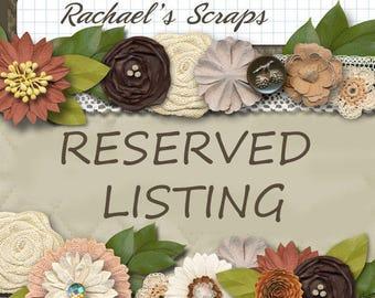 RESERVED SET for Raechel