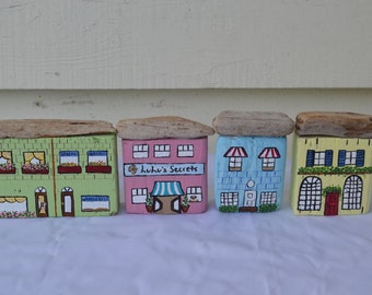 OAK Hand Painted Driftwood Village