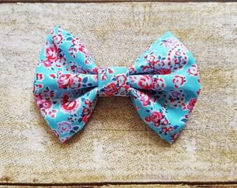 Floral hair bows | Girl hair bows | Flower hair bows | Floral headband baby | Blue hair bows | Toddler hair bows | Floral headband toddler