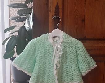 Vest crocheted reversible baby