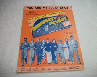 1936 Lovely Old Sheet Music w Pictures of Movies Stars, YOU Are My LUCKY STAR