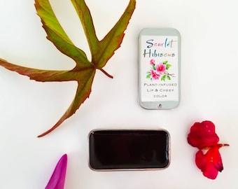 Scarlet Hibiscus Lip and Cheek Tint Organic Natural Makeup