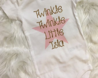 Twinkle Twinkle // Twinkle Twinkle Little Star // Twinkle Twinkle Little Star Bodysuit // Little Star // First Birthday // Twinkle Little