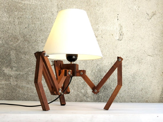 Bedside lamp table lamp desk lamp industrial style tripod bedside lamp table lamp desk lamp industrial style tripod lamp unique lamp designer lamp wooden lighting spider decor home gift aloadofball Image collections