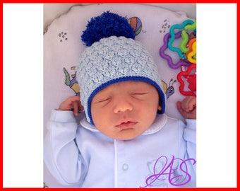 Crochet Newborn Hat Pattern Crochet Baby Hat Pattern Crochet Hat Pattern with Pom Pom Instant PDF Download