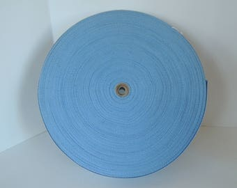 Upholstery binding, Roll of binding, Blue, Sewing accessory, Excellent condition, Vintage