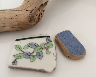 Sea Pottery Shards, Ceramics, Mixed Sea Pottery, Blue Sea Pottery, White Sea Pottery, Sea Pottery, Surf Tumbled, Mosaic, Jewelry Supplies