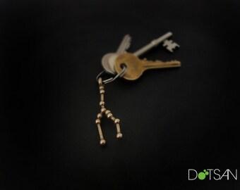 Taurus Constellation Keychain Keyring