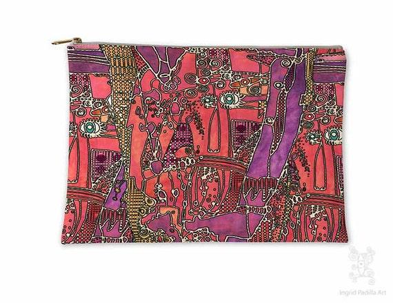 Boho Makeup bag, Makeup bag, Cosmetic Bag, Makeup Pouch, Toiletry Bag, Purse Organizer, Travel Bag, Pencil Case, carry all, carry all bag