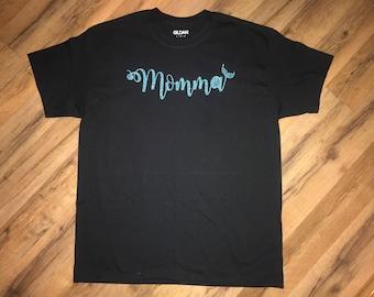 Mermaid momma tee shirt